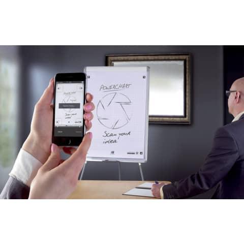 Flipchartblock 20BL kariert OXFORD 400096320 68x98cm SmartCharts Produktbild Anwendungsdarstellung 2 XL