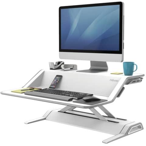 Computertisch  weiß FELLOWES FW0009901 Produktbild Einzelbild 3 XL