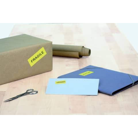 Universaletiketten 70x37 gelb HERMA 4406 100 Blatt Produktbild Produktabbildung aufbereitet XL