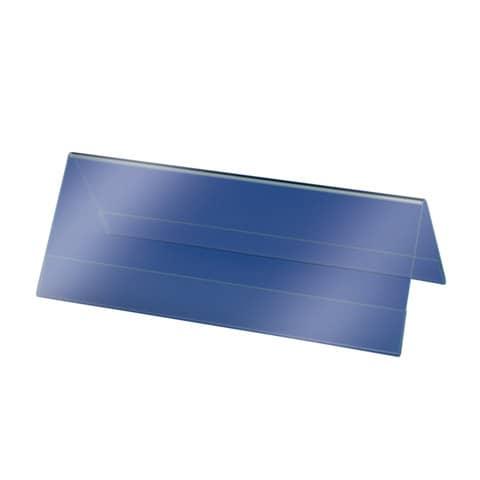 Tischaufsteller 24x9 cm glasklar 5 Stück SIGEL TA130 inkl. Einsteckkarten Produktbild Einzelbild 3 XL