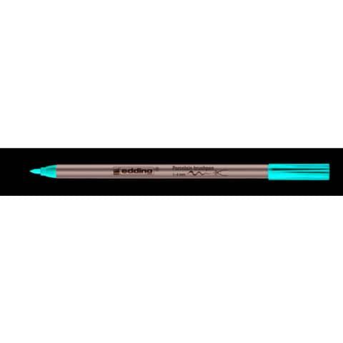 Porzellanmalstift Brushpen rot EDDING 4200 002 Produktbild