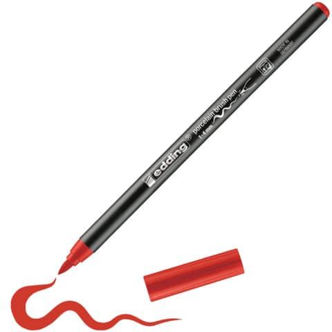 Porzellanmalstift Brushpen rot EDDING 4200 002 Produktbild Produktabbildung aufbereitet XL