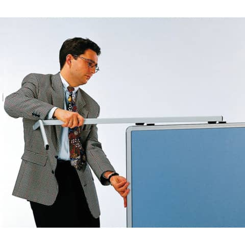 Moderatorentafel Premium blau/grau LEGAMASTER 7-205200 120x150cm Produktbild Anwendungsdarstellung XL