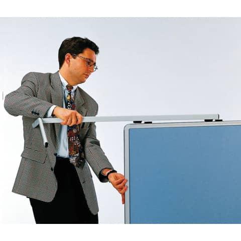 Moderatorentafel blau/grau LEGAMASTER 2052 00 Filzbezug Produktbild Anwendungsdarstellung XL