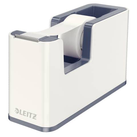 Klebeband-Abroller WOW Duo Colour LEITZ 5364-10-01 weiß/perlweiß 1 Rolle Produktbild