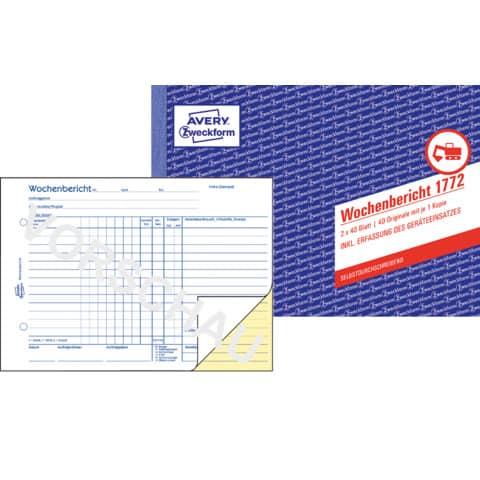 Wochenbericht A5 2x40BL SD ZWECKFORM 1772 SD 2x40 Blatt Produktbild Einzelbild 2 XL