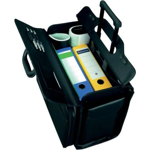 Pilotenkoffer San Remo sw JÜSCHA 45030 Lederimitat Produktbild Anwendungsdarstellung XL