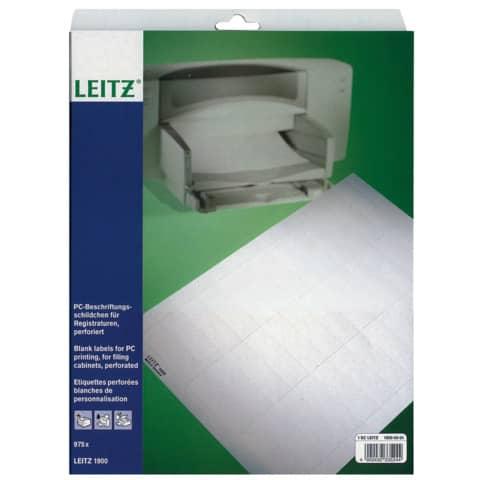 Beschriftungsschilder 60x21mm ws LEITZ 19000001 PG975ST Produktbild Einzelbild 2 XL