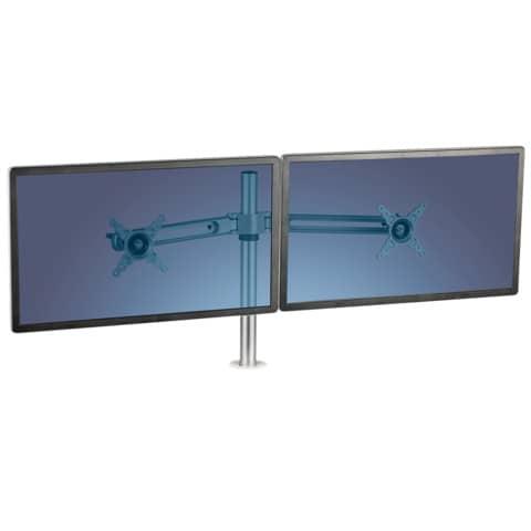 Flachbildschirmträger doppelt silber FELLOWES FW8042901 Produktbild Anwendungsdarstellung XL