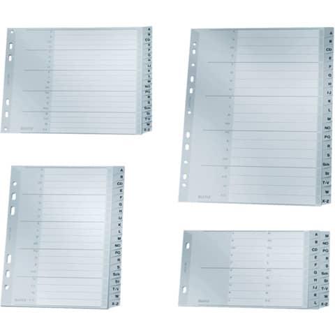 Register A4 A-Z grau 20tlg. LEITZ 12620000 Plastik überbr. Produktbild Stammartikelabbildung XL