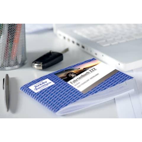 Fahrtenbuch PKW A6 quer, 40 Blatt ZWECKFORM 222 Produktbild Produktabbildung aufbereitet XL