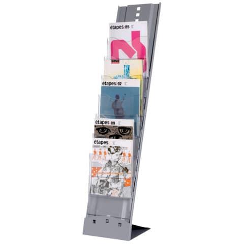 Prospektständer Plio silber PAPERFLOW 2857.35 für A4 Produktbild
