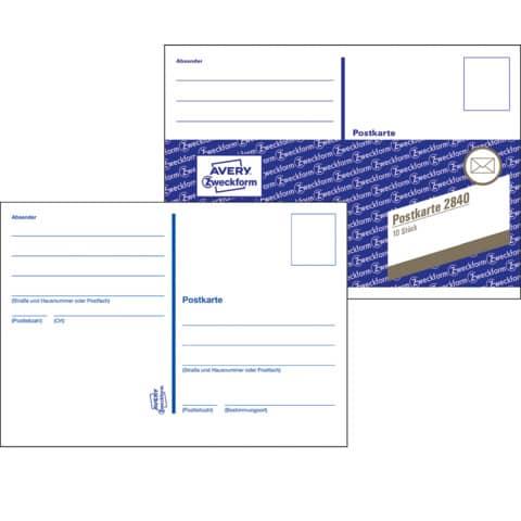 Postkarten Heft 10ST ZWECKFORM 2840 Produktbild Einzelbild 2 XL