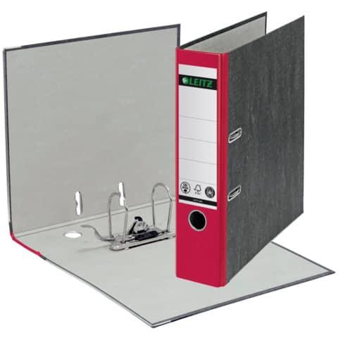 Ordner Pappe A4 8cm rot LEITZ 1080-50-25 Produktbild Einzelbild 2 XL
