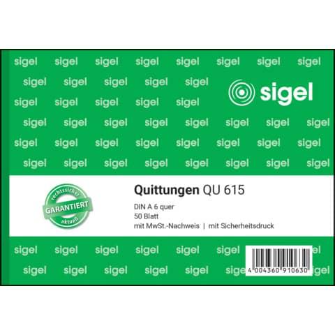Quittung A6 50BL SIGEL QU615 Produktbild Einzelbild 2 XL
