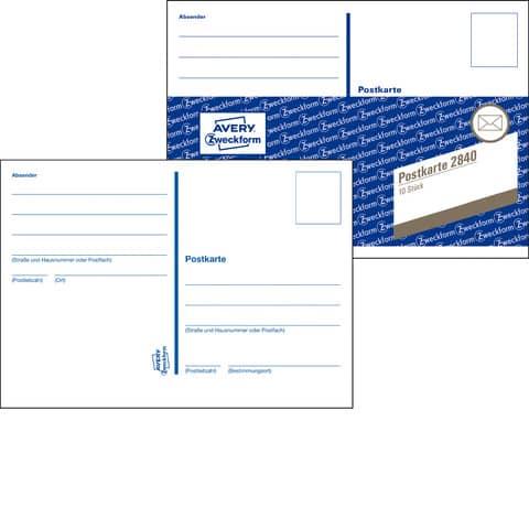 Postkarten Heft 10ST ZWECKFORM 2840 Produktbild Einzelbild 3 XL
