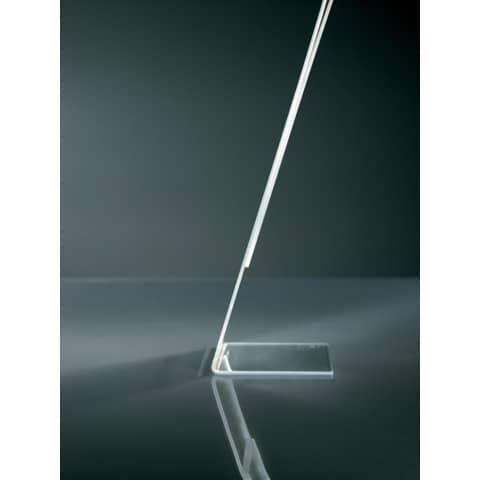 Tischaufsteller A5 hoch glasklar Acryl SIGEL TA212 schräg Produktbild Detaildarstellung 4 XL