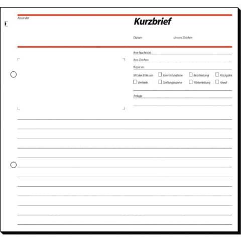 Kurzbrief 2/3 A4, 50 Blatt SIGEL SD009 selbstdurchschreibend Produktbild