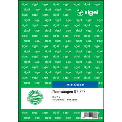 Rechnung A5 hoch, 2x50 Blatt SIGEL RE525 Produktbild Einzelbild 2 XL