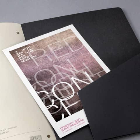 Notizblock ca.A4 kariert schwarz CONCEPTUM CO800 Hardcover Produktbild Detaildarstellung 3 XL