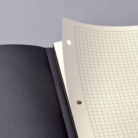 Notizblock ca.A4 kariert schwarz CONCEPTUM CO800 Hardcover Produktbild Detaildarstellung XL
