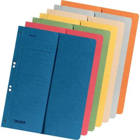 Ösenhefter A4 blau 1/2 Deckel FALKEN 80003809 Produktbild Stammartikelabbildung XL