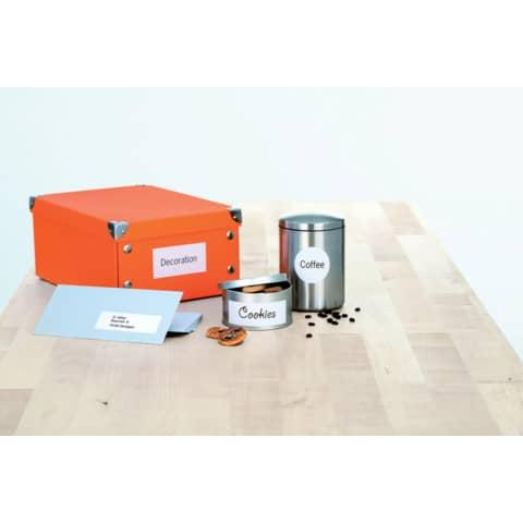 Universaletiketten 70x37mm weiß HERMA 4464 2400 Stück permanent haftend Produktbild Produktabbildung aufbereitet XL