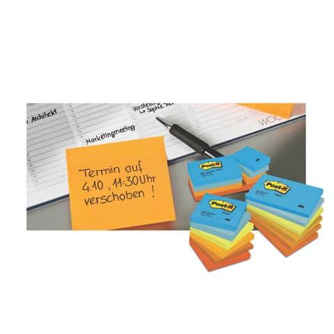 Haftnotizblock 76x76 Dream+En POST-IT 654ENDRP 12 Stück Promotion Produktbild Anwendungsdarstellung 2 XL