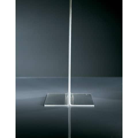 Tischaufsteller A4 hoch glasklar Acryl SIGEL TA220 gerade Standfüße Produktbild Detaildarstellung XL