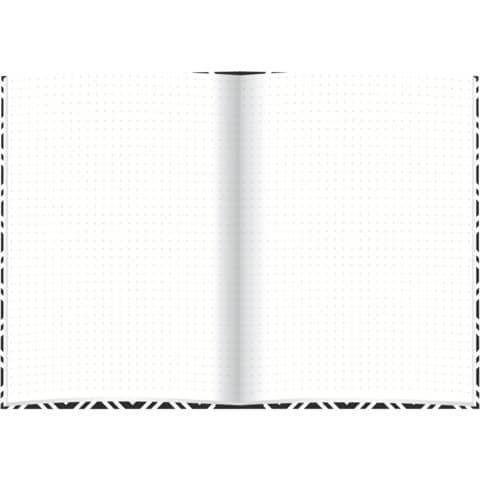 Notizbuch black&white rhombus RNK 46745 A5/96BL punktiert Produktbild Einzelbild 2 XL