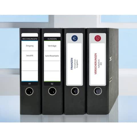 Ordneretikett 61x192mm weiß ZWECKFORM L4761-25 100ST Produktbild Anwendungsdarstellung XL
