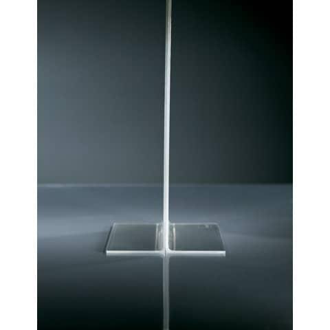 Tischaufsteller DIN lang glaskar Acryl SIGEL TA224 gerade Standfüße Produktbild Detaildarstellung XL