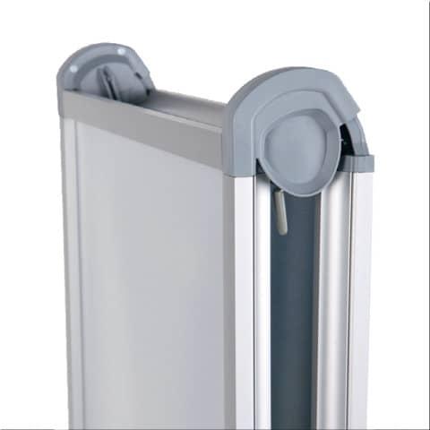 Kundenstopper Design Außenbereich A1 FRANKEN BS1309 591x836mm silber Produktbild Detaildarstellung 2 XL