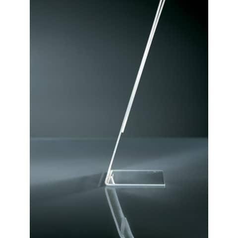 Tischaufsteller A4 quer glasklar Acryl SIGEL TA211 schräg Produktbild Detaildarstellung 2 XL