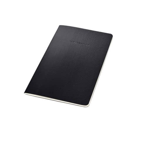 Notizheft ca. A5 kariert schwarz CONCEPTUM CO862 Softcover Produktbild Einzelbild 2 XL