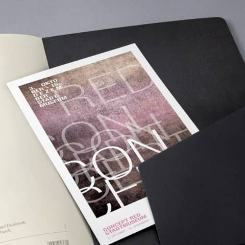 Notizheft ca. A5 kariert schwarz CONCEPTUM CO862 Softcover Produktbild Detaildarstellung XL