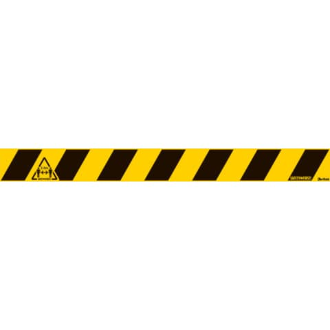 Bodenaufkleber 800x80 mm gelb-schwarz TARIFOLD T197858 Produktbild