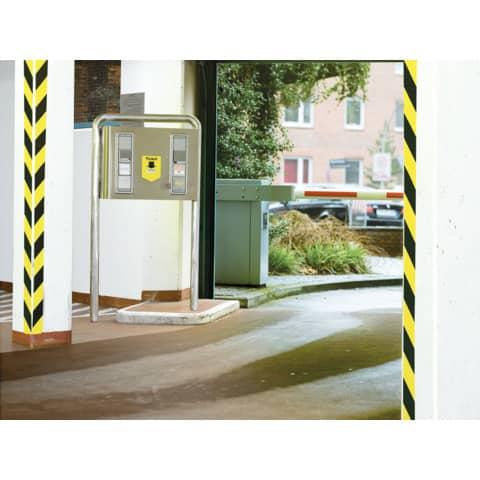 Markierungsband gelb/schwarz TESA 58133-00000-00 50mm 66m Produktbild Anwendungsdarstellung XL