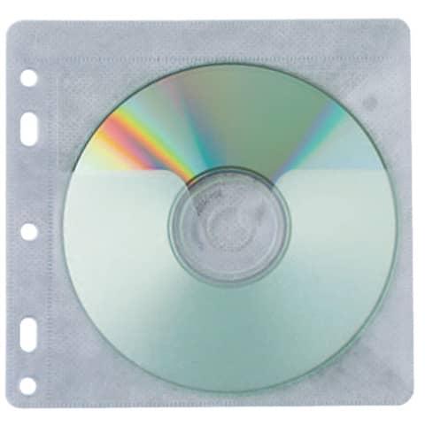 CD Hülle 40ST transparent gelocht Q-CONNECT KF02208 Produktbild Einzelbild 2 XL