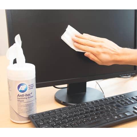 Reinigungstuch 60ST AF BSCRW60T anti-bac+ Produktbild Anwendungsdarstellung XL