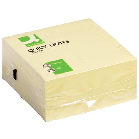 Haftnotizblock 76x76mm gelb Q-CONNECT KF01346 400BL Produktbild