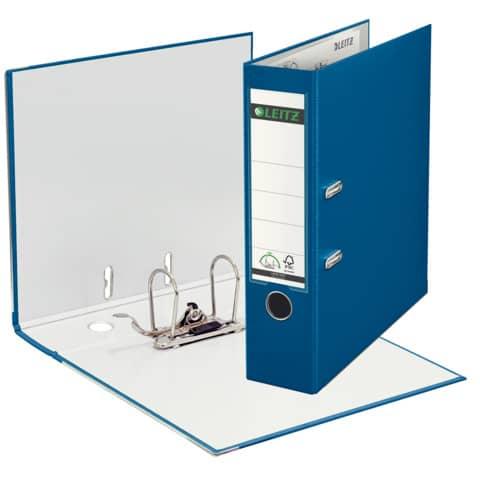 Ordner Plastik A4 8cm blau LEITZ 1010-50-35 180° Mechanik Produktbild Einzelbild 2 XL