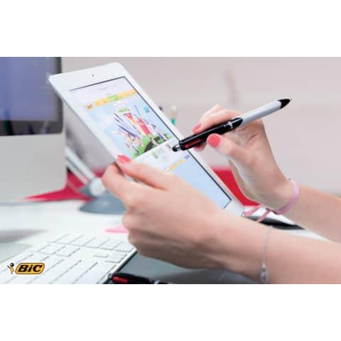 Vierfarbkugelschreiber Stylus BIC 926404 /4 Colours Produktbild Anwendungsdarstellung XL