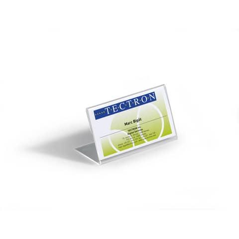 Tischschild 10ST transparent DURABLE 8055 19 54x100mm Produktbild Einzelbild 5 XL