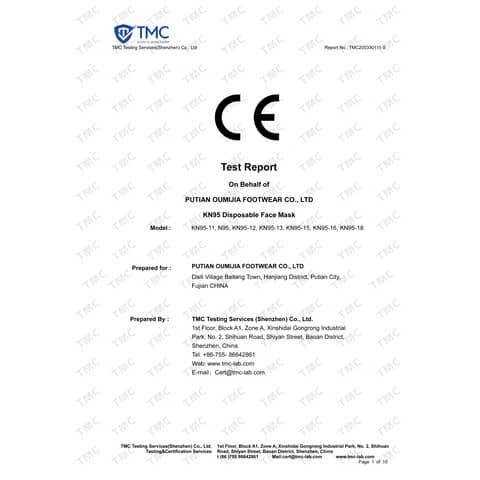 Atemschutzmaske  weiß 000521 KN95 Produktbild Produktdatenblatt XL
