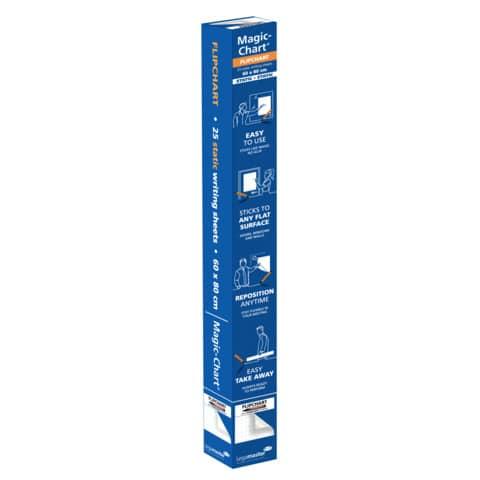 Schreibfolie Filpchart 25BL weiß LEGAMASTER 159000 60x80cm Produktbild Einzelbild 5 XL