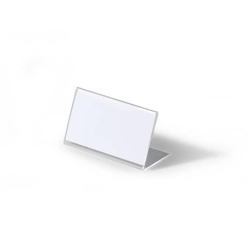 Tischschild 10ST transparent DURABLE 8055 19 54x100mm Produktbild Einzelbild 3 XL