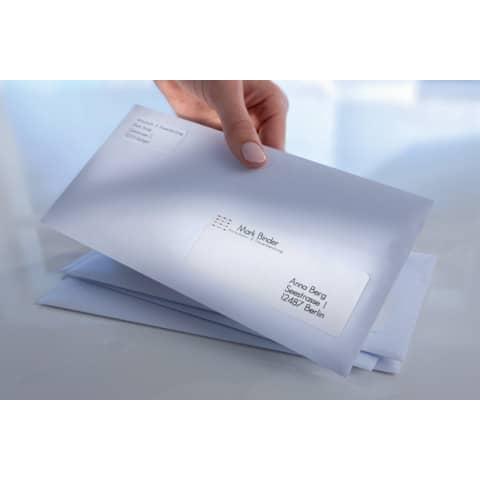 Adressetiketten 63,5x38,1mm weiß AVERY ZWECKFORM 7160-10 10 Blatt Produktbild Anwendungsdarstellung XL