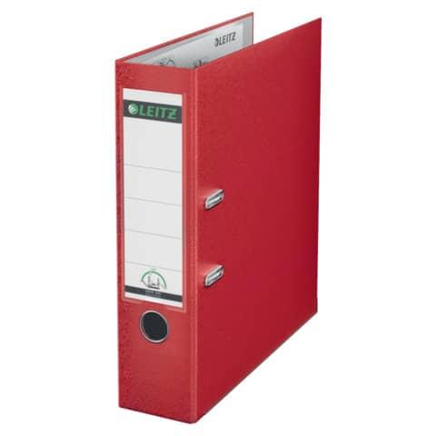 Ordner Plastik A4 8cm rot LEITZ 1010-50-25 180° Mechanik Produktbild