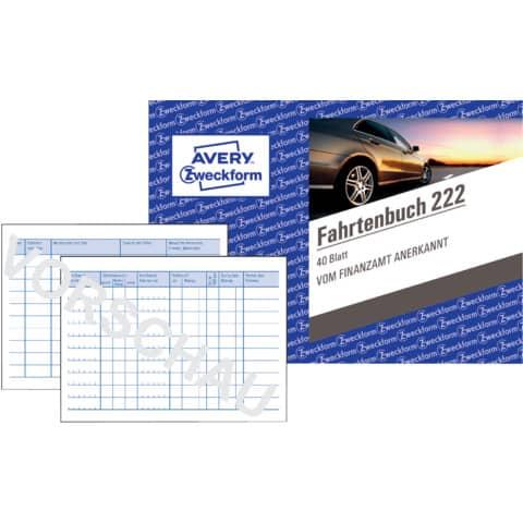 Fahrtenbuch PKW A6 quer, 40 Blatt ZWECKFORM 222 Produktbild Einzelbild 3 XL